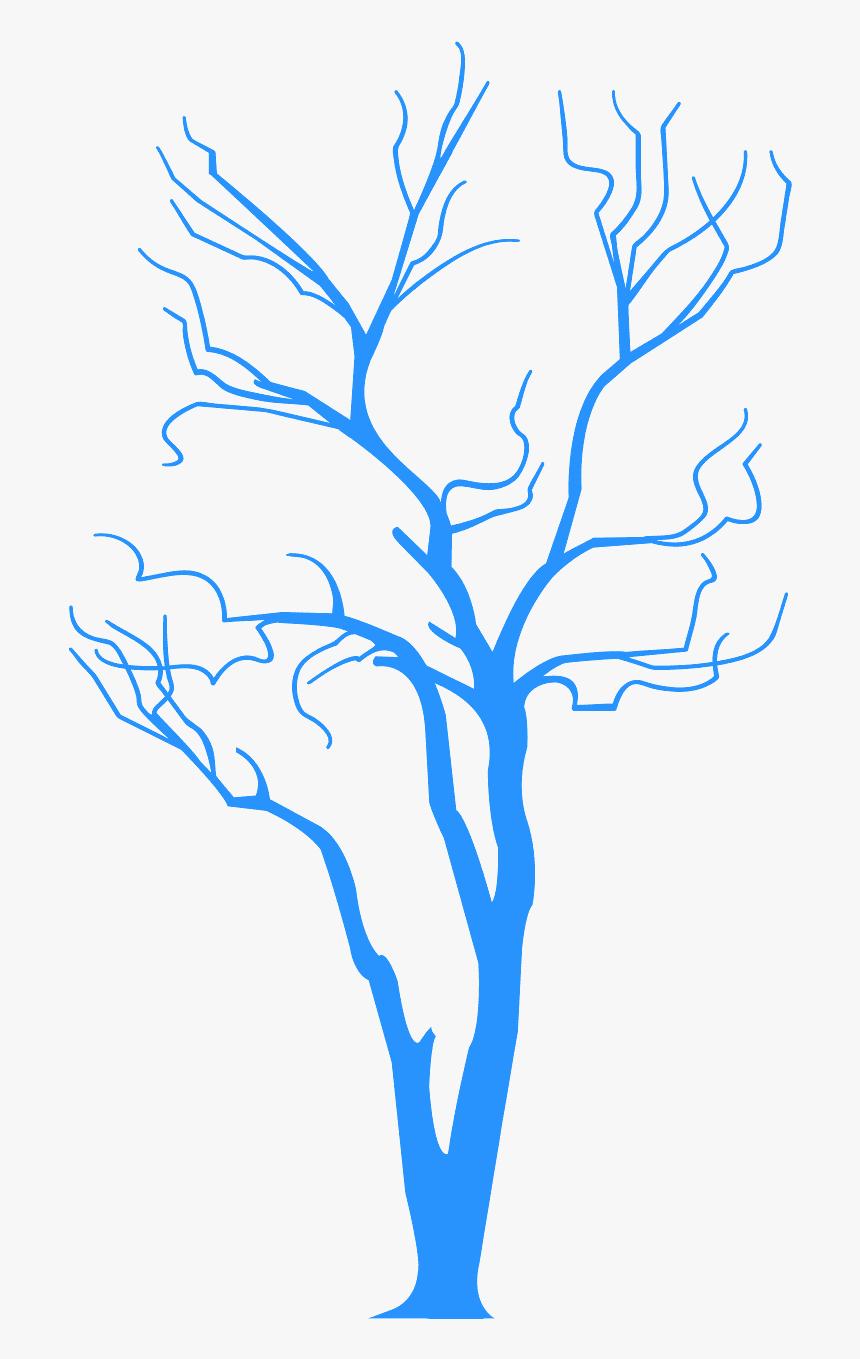 Black 2d Tree Png, Transparent Png, Free Download