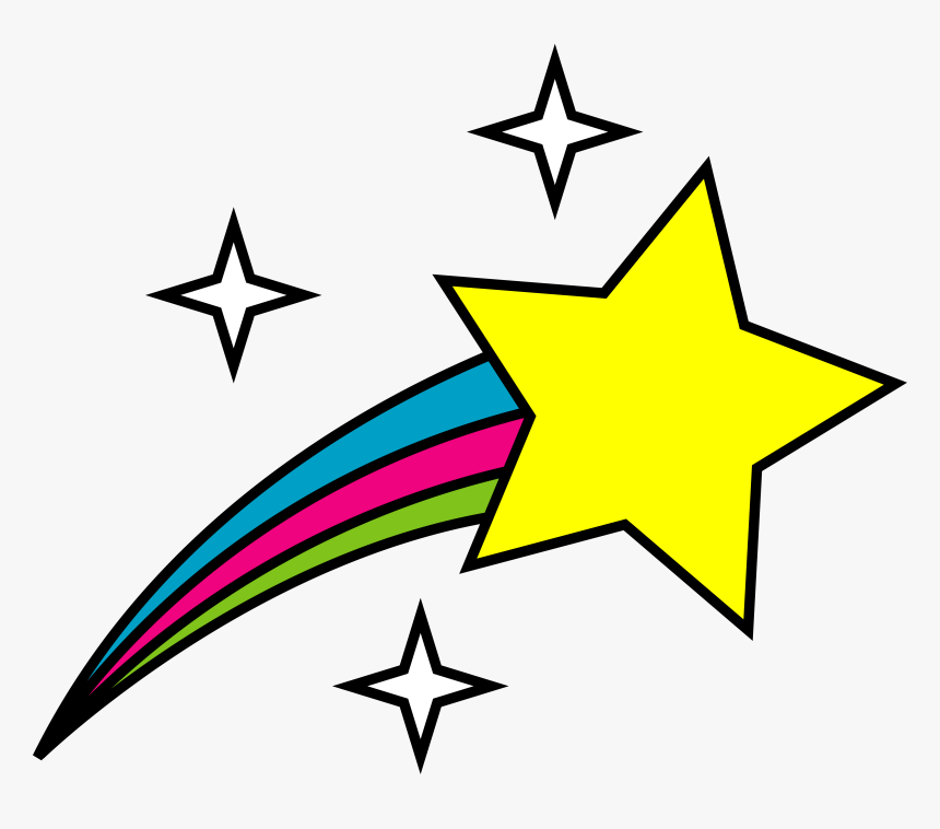 Star Drawing At Getdrawings - Shooting Star Clip Art, HD Png Download, Free Download
