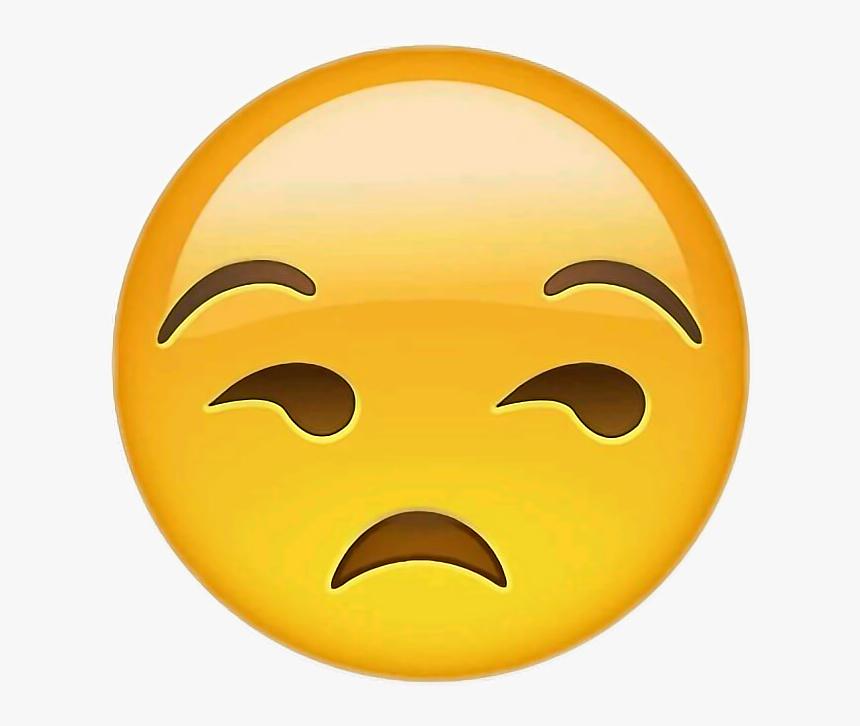 Eyes Emoji Png -eye Roll Emoji Png - Unamused Face Emoji, Transparent Png, Free Download