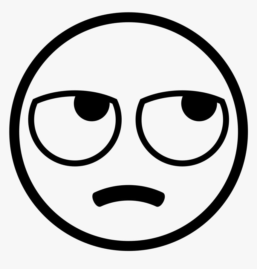 Eye Roll Emoji Black And White, HD Png Download, Free Download