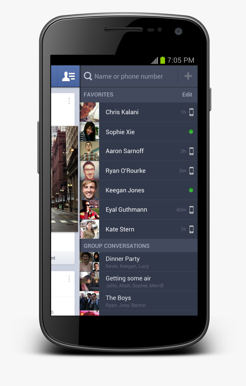 Android Contact List Ui, HD Png Download, Free Download