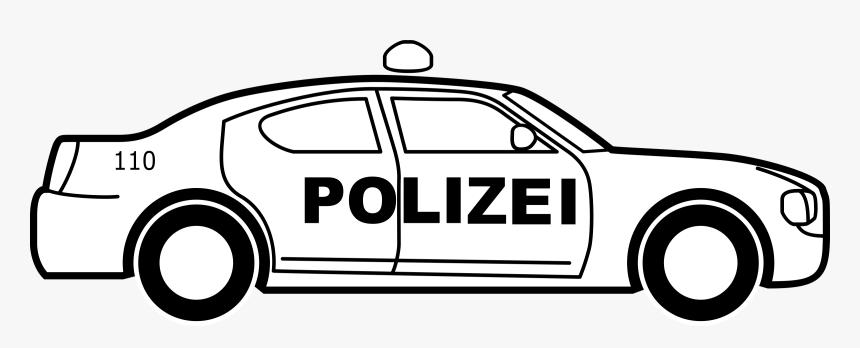 German Police Car Big - Police Car Line Art, HD Png Download, Free Download