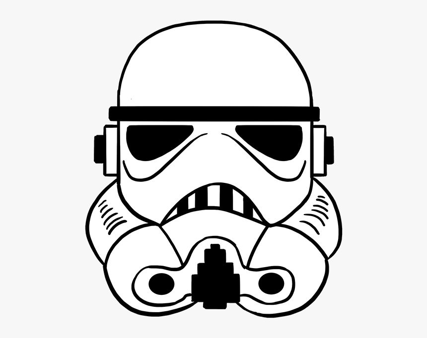 How To Draw Stormtrooper Helmet - Stormtrooper Drawing, HD Png Download, Free Download