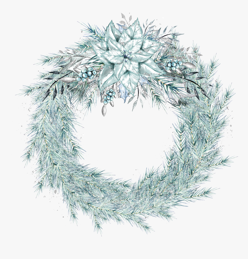 Transparent Christmas Wreath Clipart