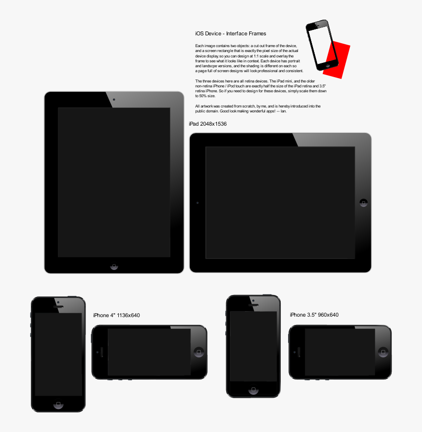 Ios Devices - Interface Frames - Interface Frame Png, Transparent Png, Free Download