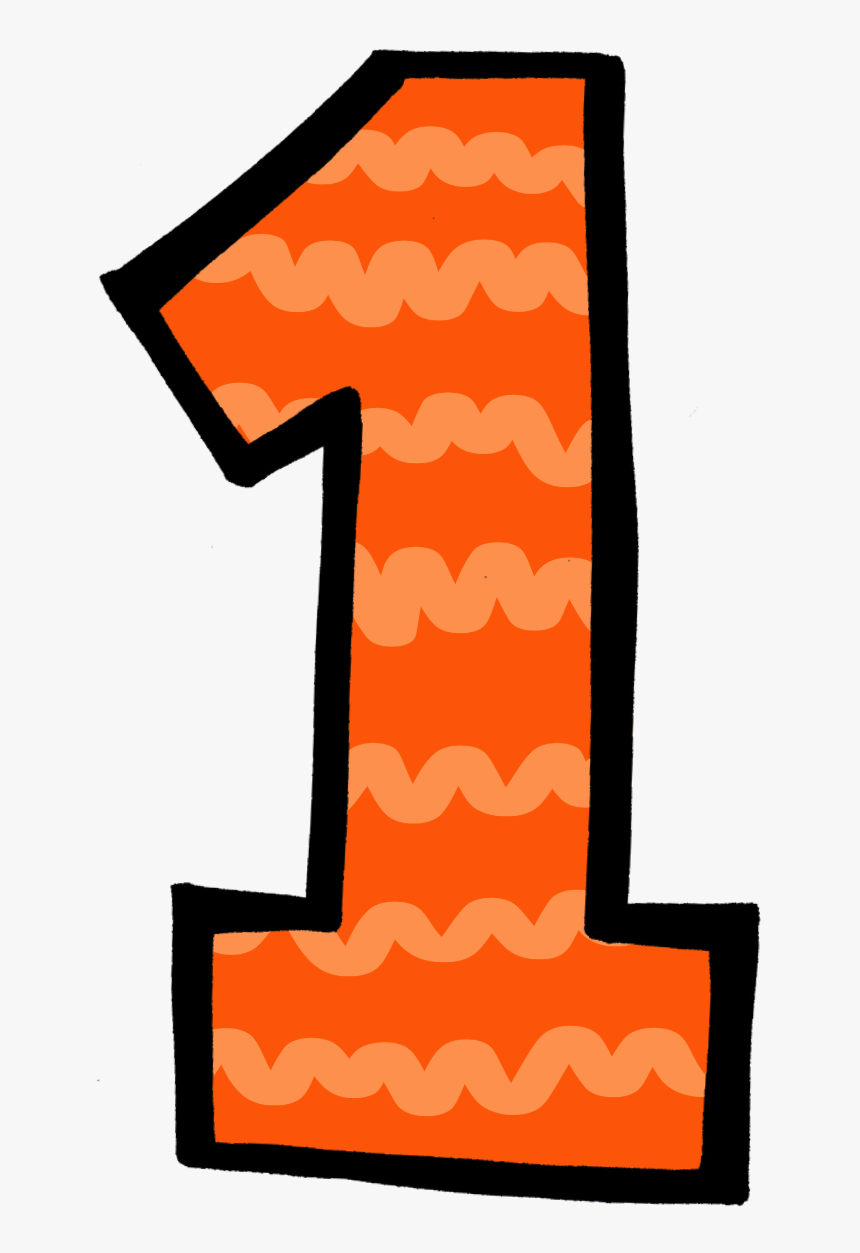Cartoon 1 Number, Five For Friday Time Beach Sand - Number 1 Clipart, HD Png Download, Free Download