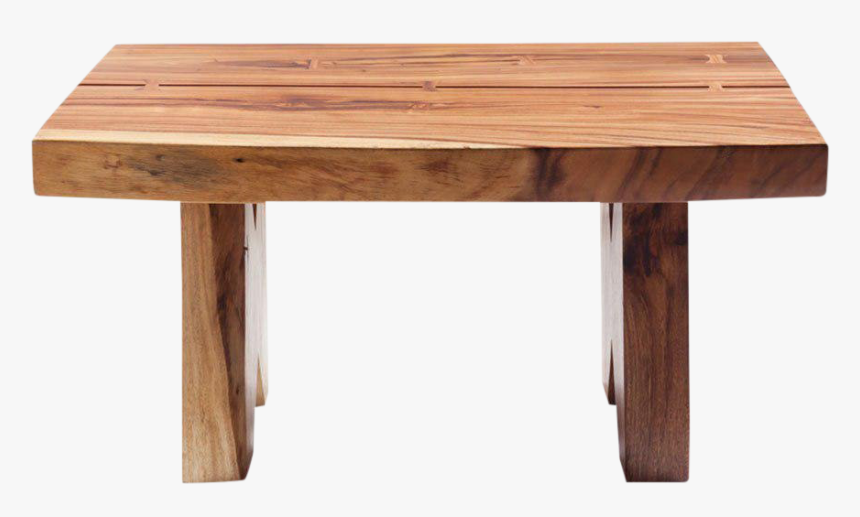 Live Edge Coffee Table - Wood Table Front, HD Png Download, Free Download