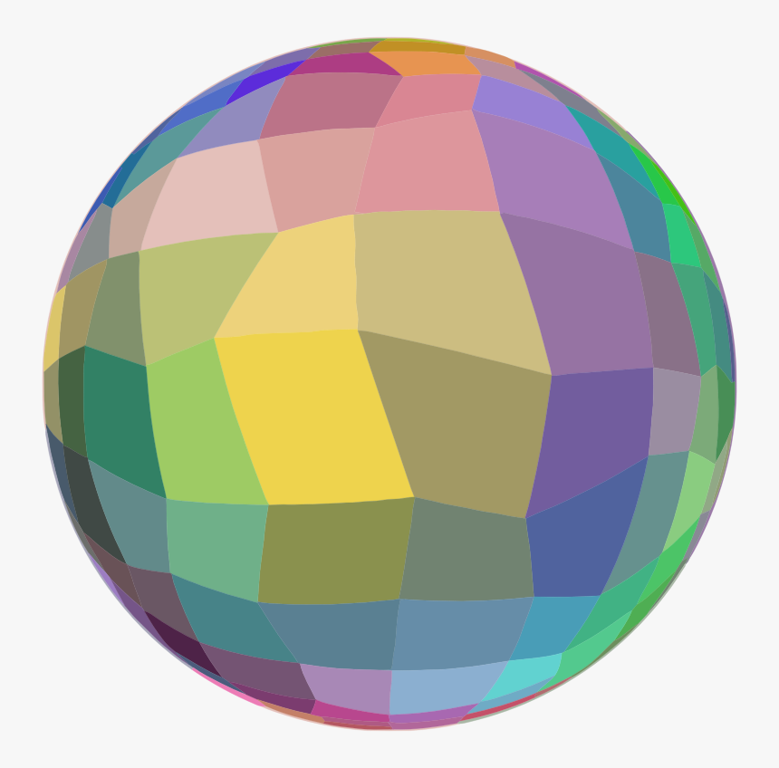 Mosaic Ball On A Diet - Sphere Clipart Png, Transparent Png, Free Download