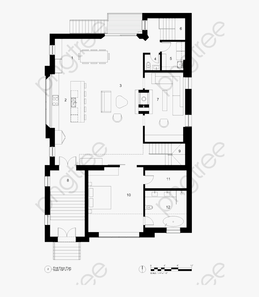 Big House Design Floor Plan - Ground