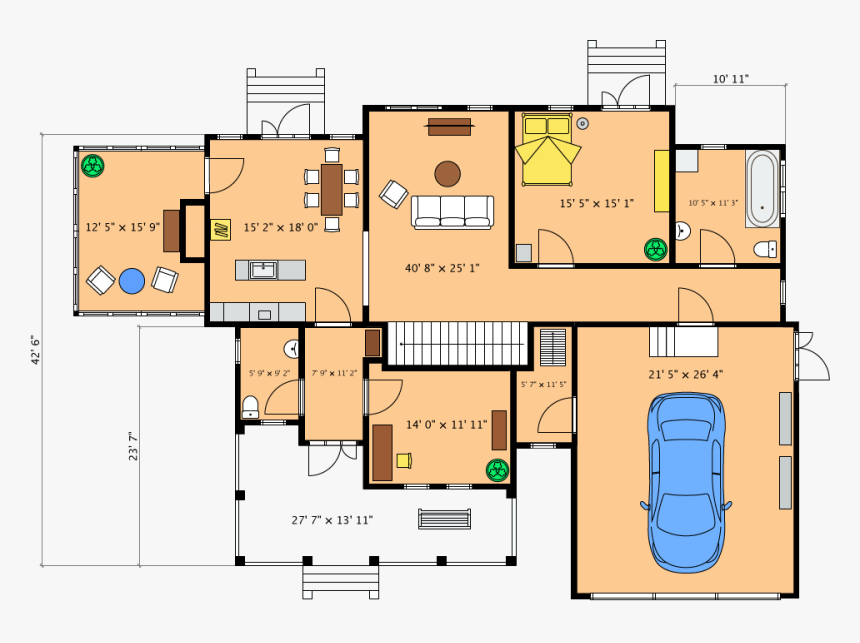Detailed Floor Plan Layout In Live Home 3d - Live Home 3d Floor Plan, HD Png Download, Free Download