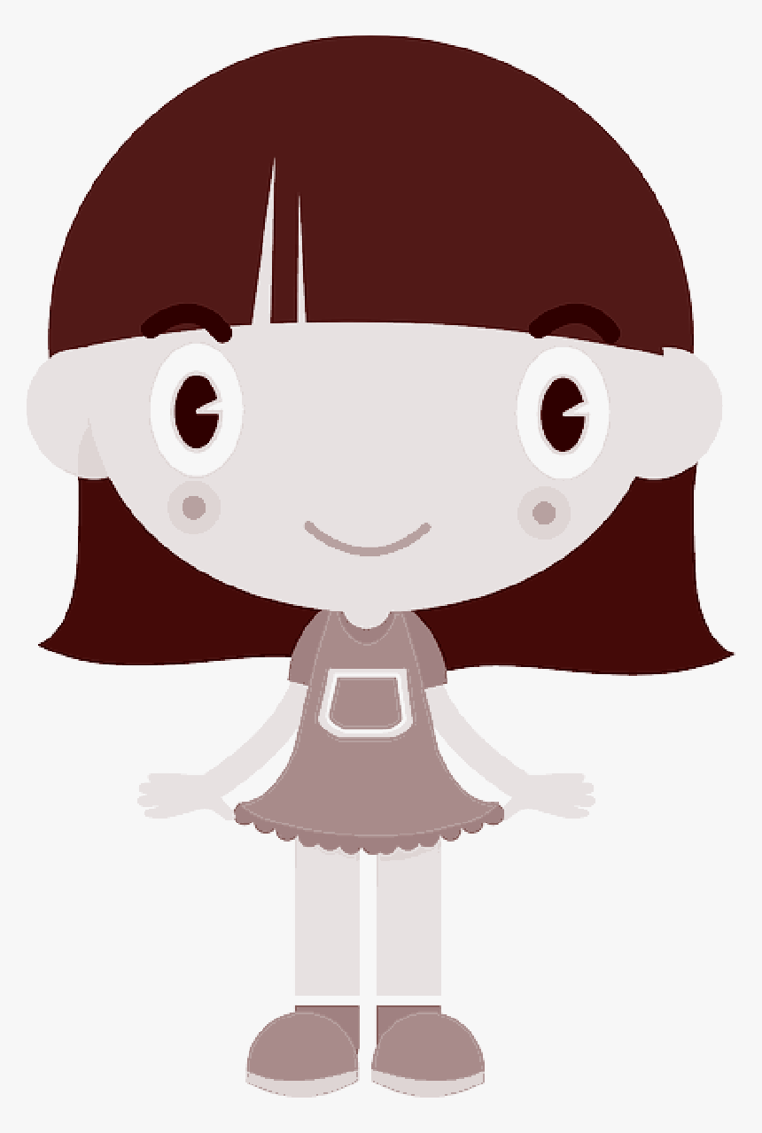 Clip Art Portable Network Graphics Transparency Illustration - Cartoon Girl With Red Cheeks, HD Png Download, Free Download