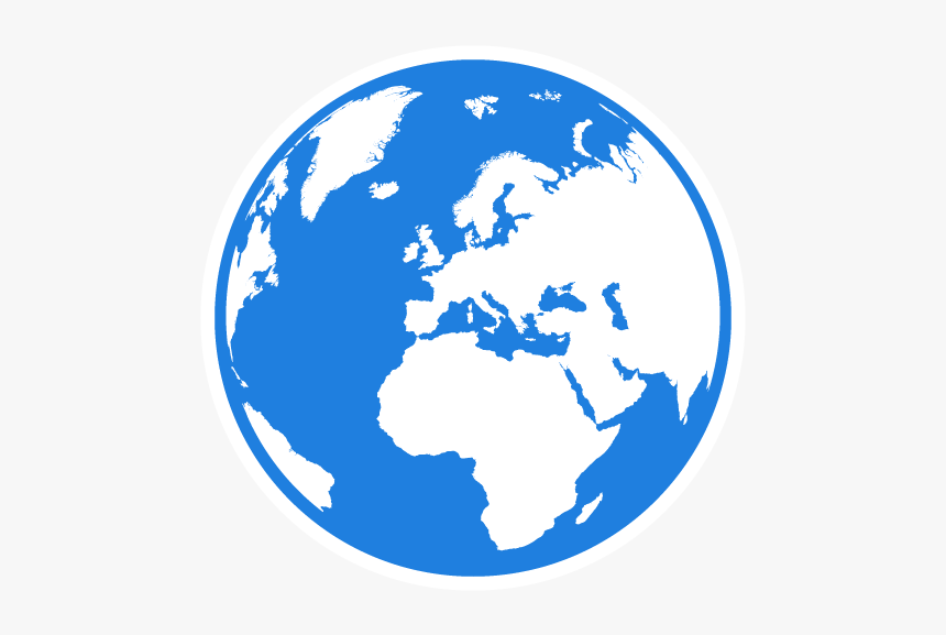 Globe Blue 03 Boxed - World Map Globe Png, Transparent Png, Free Download