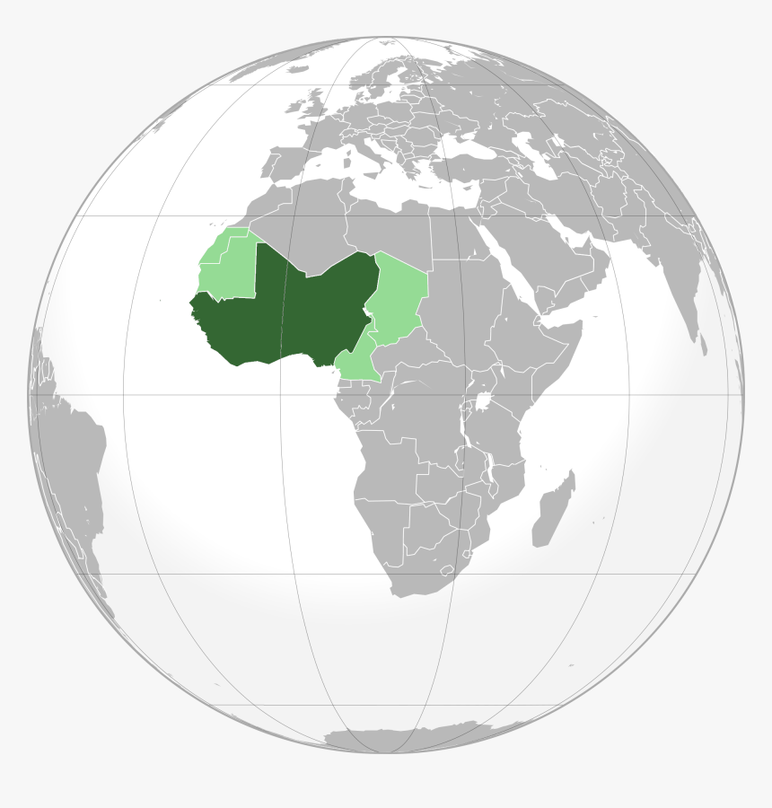 West-africa - Republic Of Congo On A World Map, HD Png Download, Free Download