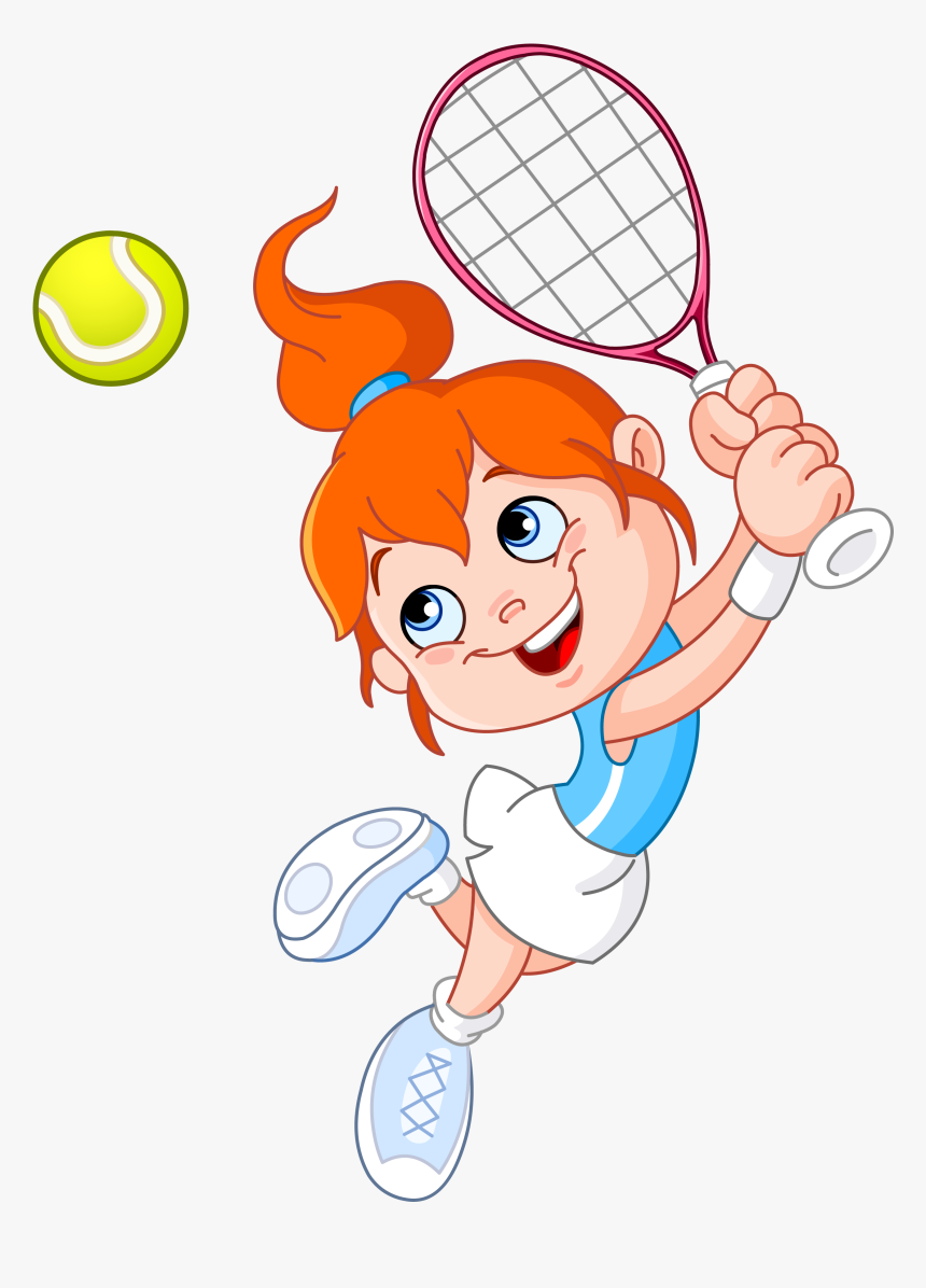 Tennis Girl Racket Cartoon Girl Playing Tennis Clipart Hd Png Download Kindpng
