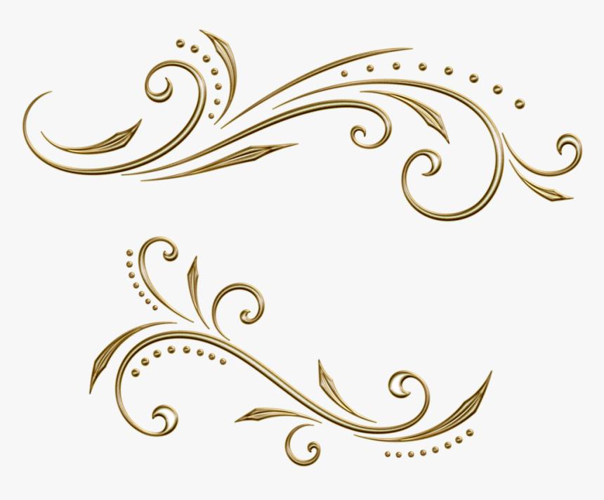 Filigree Clipart Flourish Swirl - Картинки Пнг Узор, HD Png Download, Free Download