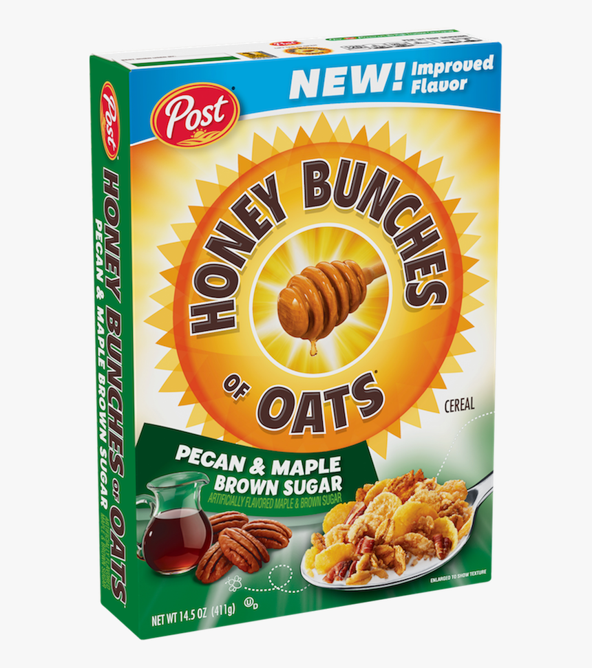 Packaging Of Honey Bunches Of Oats Maple Brown Sugar - Honey Bunches Of Oats Pecan And Maple Brown Sugar, HD Png Download, Free Download