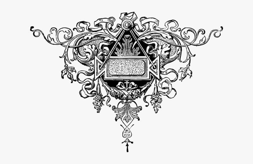 Fancy Flourish Black White Line Art 555px - Mortal Immortal Mary Shelley, HD Png Download, Free Download