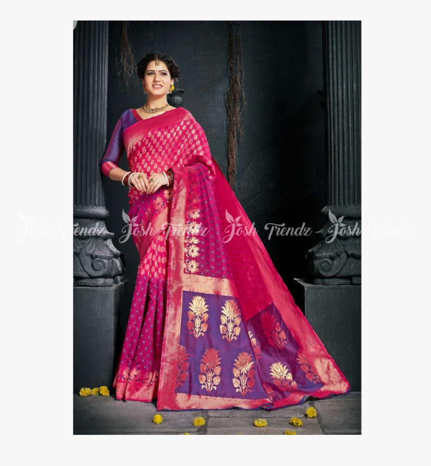 Sanskar Radhika Kalamkari Silk Saree Jt Rk Sarees - Silk, HD Png Download, Free Download