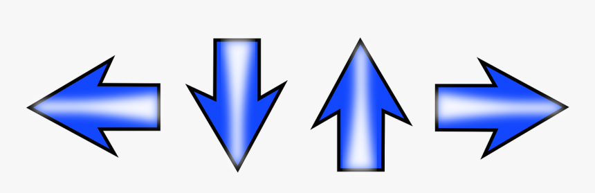 Arrow, Direction, Set, Left, Right, Down, Up, Blue - Left Right Up And Down Arrows, HD Png Download, Free Download