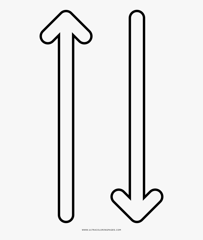 Up Down Arrows Coloring Page , Png Download, Transparent Png, Free Download