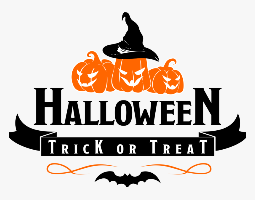 Halloween Trick Or Treat Clipart.Transparent Halloween Text Png Halloween Trick Or Treat Clipart Png Download Kindpng