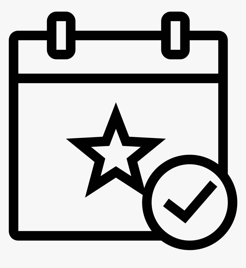 This Icon Is A Small Rectangular Calendar - Events Clipart Png, Transparent Png, Free Download