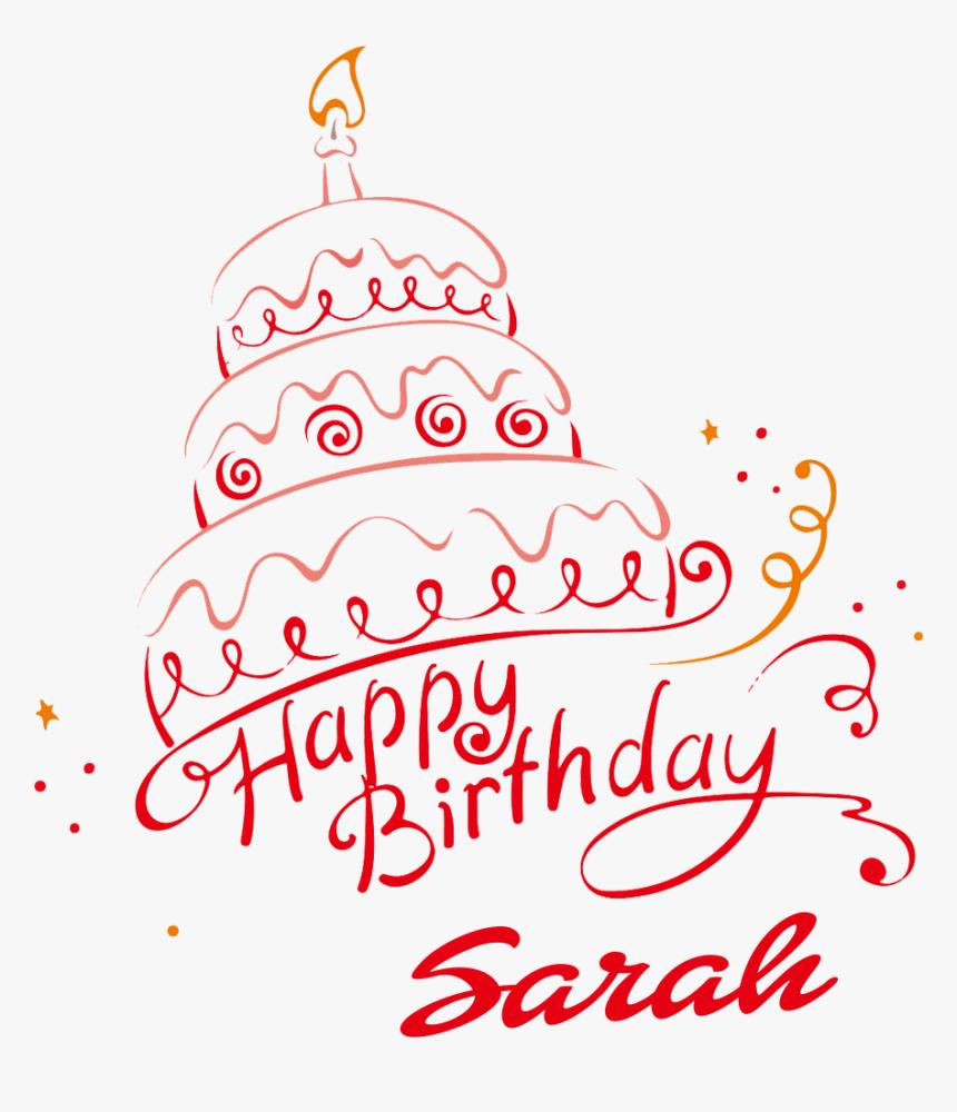 Outstanding Sarah Happy Birthday Vector Cake Name Png Birthday Cake Image Funny Birthday Cards Online Elaedamsfinfo