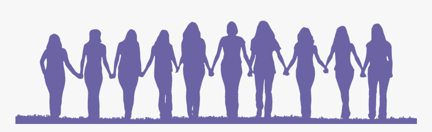 Friendship Silhouette Woman Clip Art - Women Holding Hands Silhouette, HD Png Download, Free Download