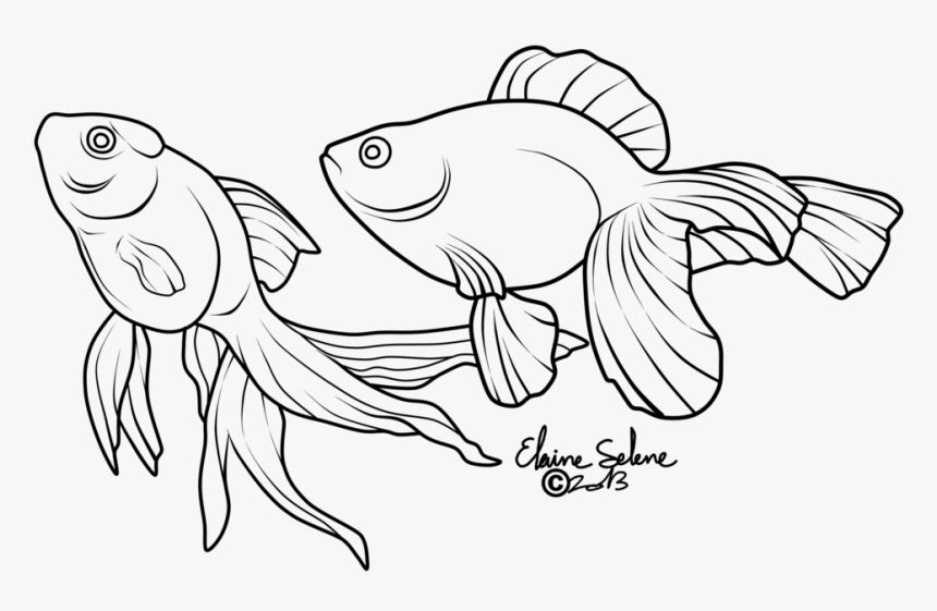 Gold Drawing At Getdrawings - Drawings Of Cartoon Gold Fish, HD Png Download, Free Download