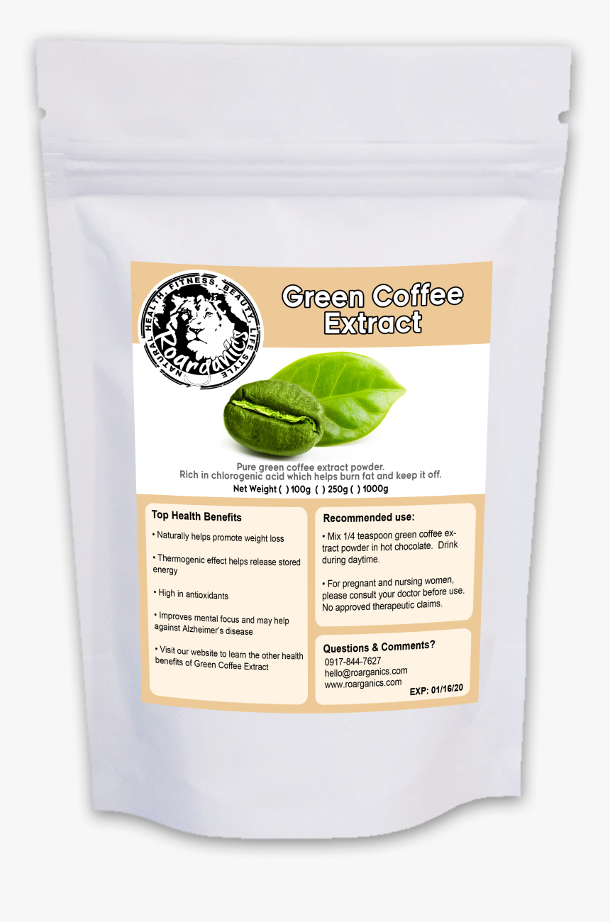 Green Coffee Bean Extract Powder Green Bean Extract Powder Clear
