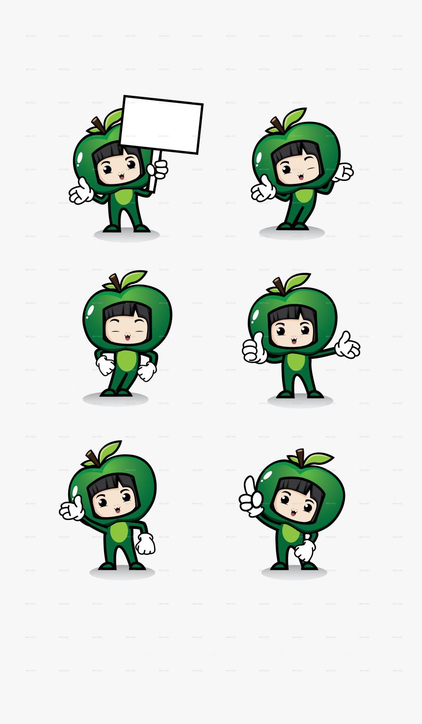 Apple Girl Mascot Apple Girl Mascot - Cartoon, HD Png Download, Free Download