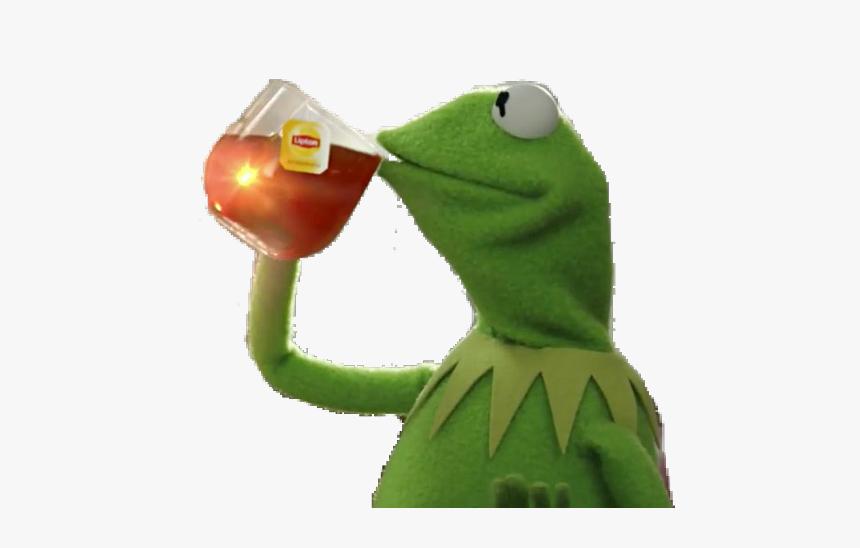 #kermit #kermitmeme #meme #green #stickers #tea #sipthetea - Kermit The Frog Spill The Tea, HD Png Download, Free Download