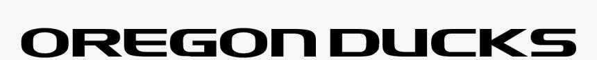 Oregon Ducks - Oregon Ducks Logo Text, HD Png Download, Free Download