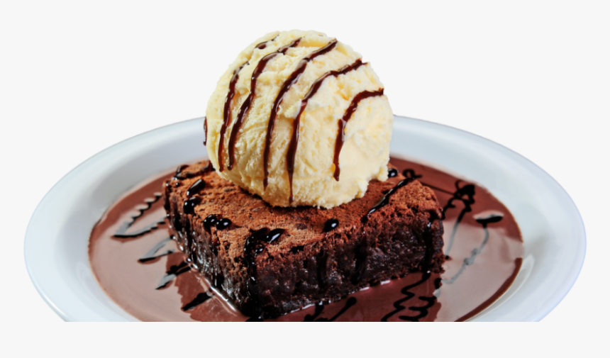 Brownie Com Cobertura Quente De Danette ® - Receita Brownie Com Sorvete, HD Png Download, Free Download