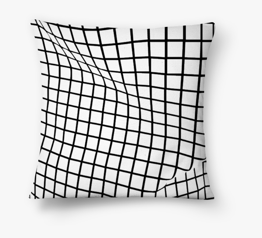 Almofada Grid Crooked De Wu Kim Mai Colab55 - Black And White Line Aesthetic, HD Png Download, Free Download