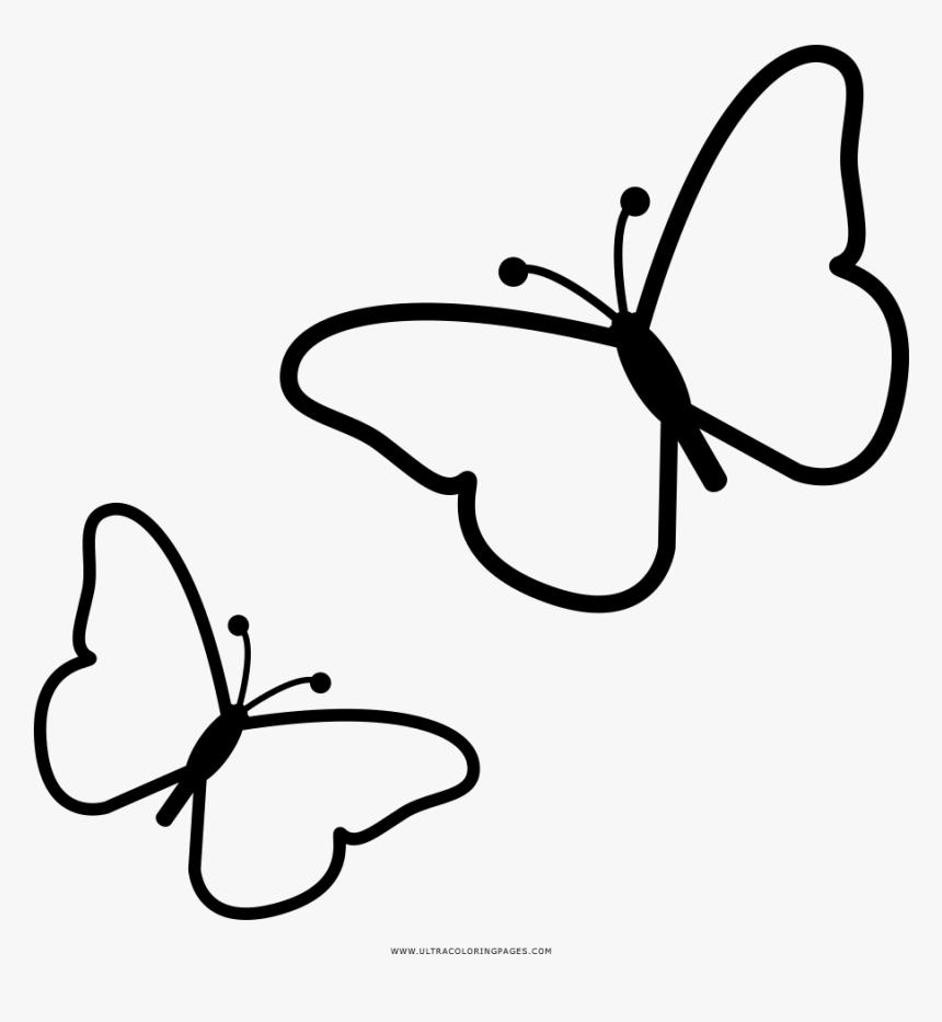 Butterflies Coloring Page - Desenho De Borboleta Para Colorir, HD Png Download, Free Download