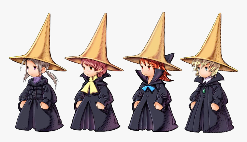 Render Final Fantasy Iii Luneth Arc Refia Ingus Photo - Final Fantasy 3 Black Mage, HD Png Download, Free Download