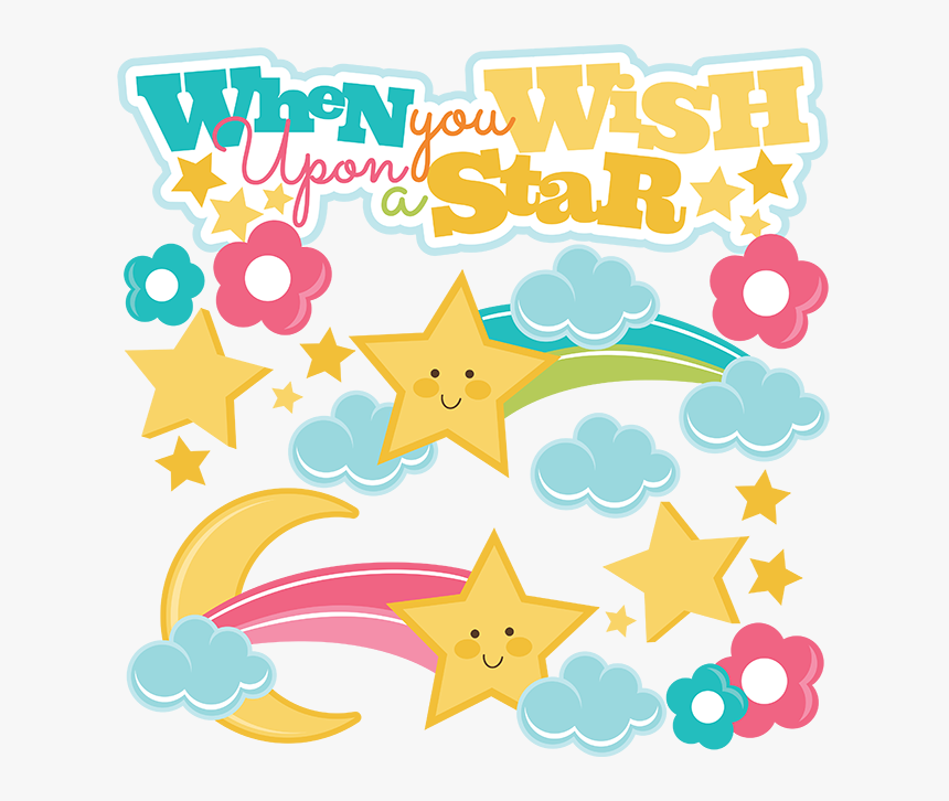 When You Wish Upon A Star Svg - Cute Shooting Stars Clipart, HD Png Download, Free Download