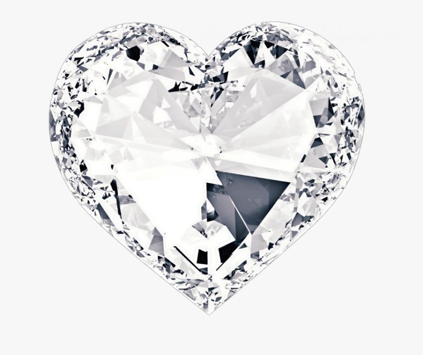 #heart #corazon #diamond #diamante #white #blanco #blanca - Corazon De Hielo Png, Transparent Png, Free Download