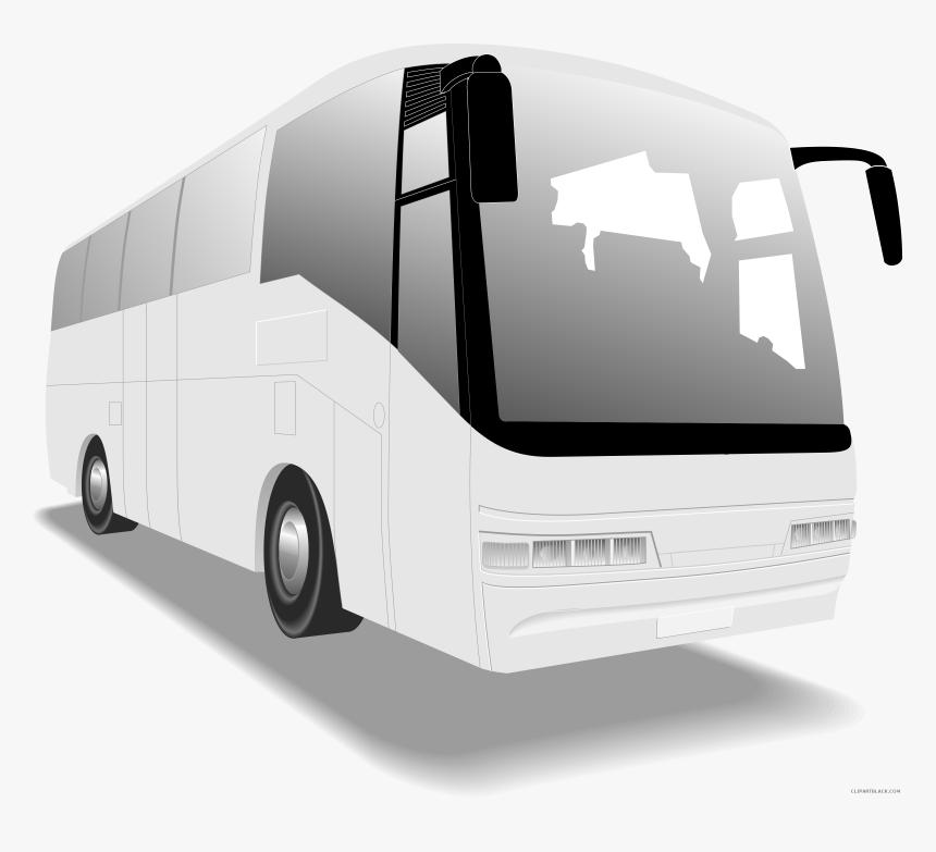 Tour Bus Transportation Free Black White Clipart Images - Tour Bus Clipart Png, Transparent Png, Free Download