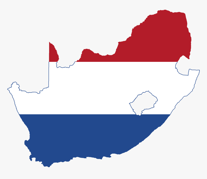 Flag Map Of South Africa - South Africa Country Flag Map, HD Png Download, Free Download