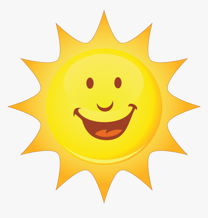 Smiley Smiling Sun Clip Art - Sun Smiley Face Transparent Background, HD Png Download, Free Download