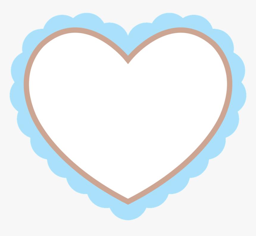 Clip Art Molduras Redondas Png Para Photoscape - Scalloped Heart Clipart, Transparent Png, Free Download