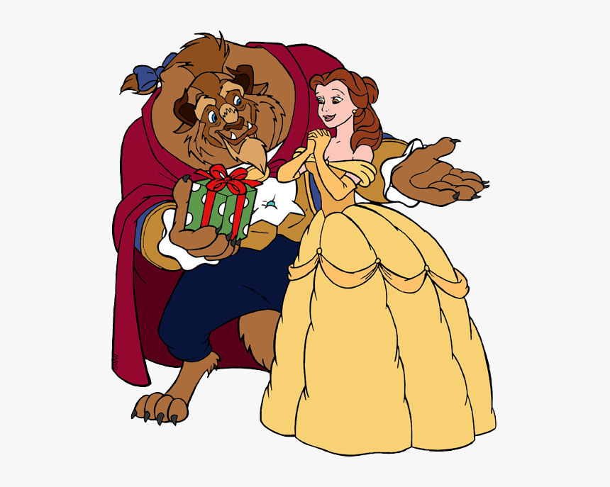 Clipart Disney Beauty And The Beast Christmas Hd Png Download Kindpng