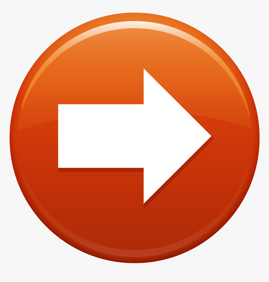 Next Arrow Orange Circle Gybs8ul L - Move Forward Icon Png, Transparent Png, Free Download