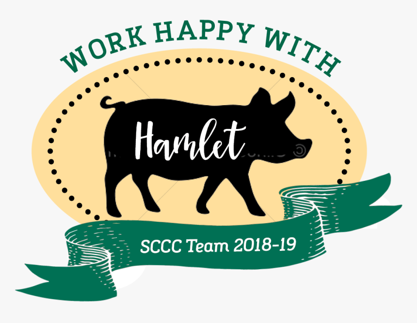 Hamlet Silhouette Badge - Domestic Pig, HD Png Download, Free Download