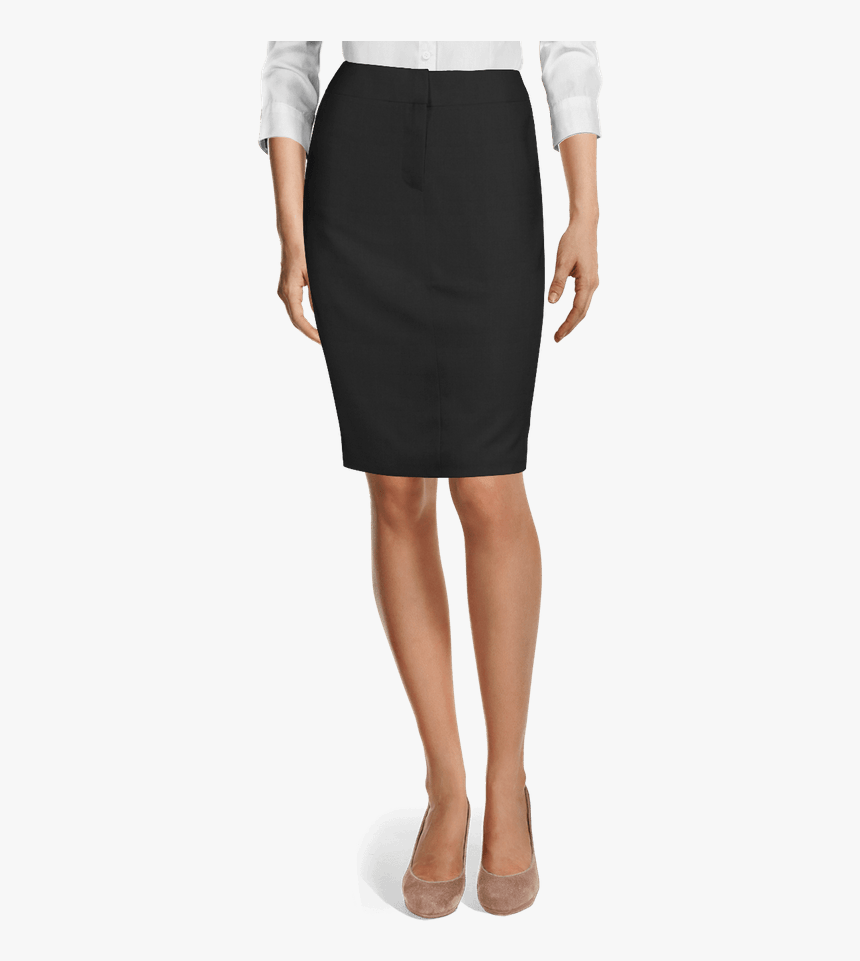 Black Pencil Skirt-view Front - Brown Pencil Skirt, HD Png Download, Free Download