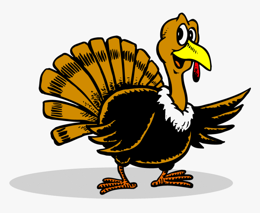 Transparent Wild Turkey Clipart Black And White - Thanksgiving Turkey Cartoon, HD Png Download, Free Download