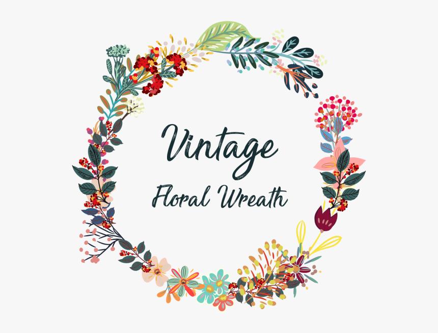 Creative Vintage Wreath Flowers - Vectores Vintage, HD Png Download, Free Download