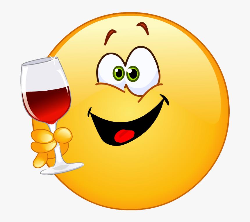 Png Smiley Emoji Red Wine, Transparent Png - kindpng